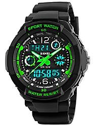 Недорогие -детские часы многофункциональные цифровые светодиодные спортивные водонепроницаемые электронные кварцевые часы для детей мальчик девочки подарок зеленый (зеленый)