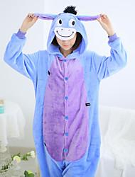 cheap -Kigurumi Pajamas Donkey Leotard/Onesie Festival/Holiday Animal Sleepwear Halloween Patchwork Coral fleece Cosplay Costumes Kigurumi For