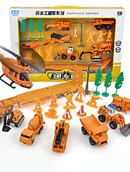 cheap -DiBang Plastic Metal Construction Truck Set Military Vehicle Fire Engine Vehicle Toy Truck Construction Vehicle Multi-Type Fun Transporter Truck Boys' Girls' Kid's Child's Car Toys Gift