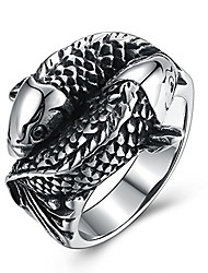 cheap -koi carp design stainless steel rings for men boys jewelry chic punk fish