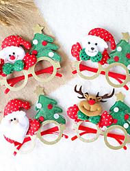 cheap -Christmas Toys Photo Booth Props Christmas Glasses Elk Snowman Santa Claus Decoration Party Favors Plastic 4 pcs Kid's Adults 14cm*14cm*12cm Christmas Party Favors Supplies / Random Color
