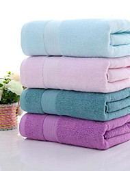 cheap -LITB Basic Bathroom 100% Pure Cotton Soft Bath Towel Solid Colored Comfortable Absorbent Daily Home Bath Towels 1 pcs 70*140cm