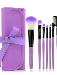 cheap -nsstar professional powder foundation blusher cosmetic makeup brush set (7pcs, purple)