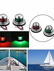 cheap -2Pcs Boat Lights Stainless Steel 12V 8LED Bow Navigation Light Red Green Sailing Signal Light Marine Spot Lights For Boat Yacht