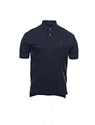 cheap -mens interlock navy blue short sleeve polo shirt size x-large