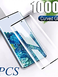 cheap -2PCS 100D Curved Tempered Glass For Samsung Galaxy S20 Ultra S20 Plus  S20 Screen Protector For Samsung Note 10 Pro Note 10 9 8 Samsung Galaxy S10 Lite S10 9 8 Plus