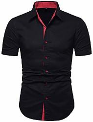 cheap -men's short sleeve cotton casual button down party dress shirt-black c73-l