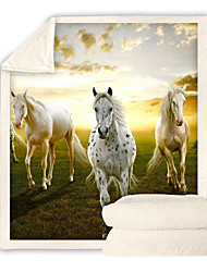 cheap -Horse Print Comfort Luxury Faux Fur Throw Blanket - Ultra Soft and Fluffy - Plush Throw Blankets for Couch Bed and Living Room - Fall Winter and Spring