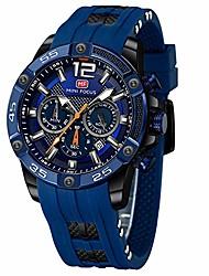 cheap -mini focus fashion sport men watches multi-functional waterproof silicone strap men quartz watches