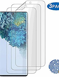 cheap -3 pack galaxy s20 plus screen protector, [compatible protective cover] [aelf-healing] [display fingerprint] hd effect flexible ultra-thin film, for samsung galaxy s20 plus