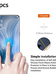cheap -OPPO Screen Protector OPPO R17 Pro R11 R11S R9 R9S R9 Plus R9S Plus A5 A3 A3S High Definition (HD) Front Screen Protector 3 pcs Tempered Glass
