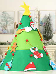 cheap -Christmas Decoration Cone Diy Christmas Tree Creative Children's Puzzle Felt Tree Handmade Tree