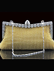 cheap -Women's Girls' Bags Synthetic Evening Bag Crystals Sequin Handbags Event / Party Black Gold Silver