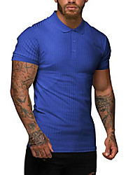 cheap -men's casual slim fit short sleeve t-shirts cotton solid color double collar tee shirt (02-navy blue, xx-large)