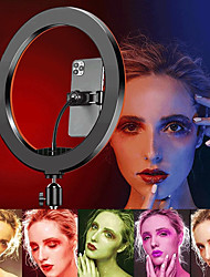 cheap -RGB LED Ring Light Dimmable Lighting USB Charger LED Fill Light DC5V Fill Light For Makeup Video Studio Selfie Enhancing for Vlogging Video YouTube Live