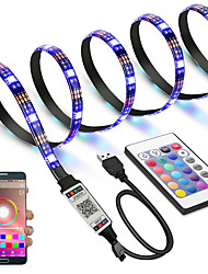cheap -App Intelligent Control Bluetooth Mesh Smart Waterproof TV Led Lights Strip 5050 RGB SMD 30 LEDs Per Meters with IR 24 Key Controller USB Port DC5V