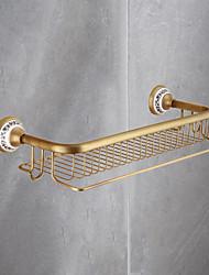 cheap -Bathroom Shelf Premium Design / Cool Contemporary Brass 1pc Wall Mounted