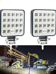 cheap -2pcs 4 Inch 9V-30V 57W 6000K 19 SMD LED Work Light Bar Spot Beam Light Driving Fog Lamp Running Light For Car Truck SUV Off-road