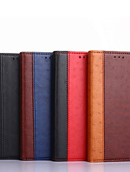 cheap -Phone Case For OnePlus Full Body Case Leather Nord N10 5G Nord N100 Shockproof Solid Color PU Leather