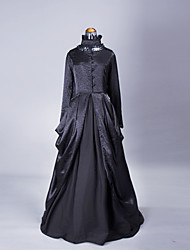 cheap -Princess Gothic Lolita Victorian Vacation Dress Dress Women's Girls' Lace Satin Costume Black Vintage Cosplay Party Prom Long Sleeve Ankle Length Ball Gown Plus Size Customized