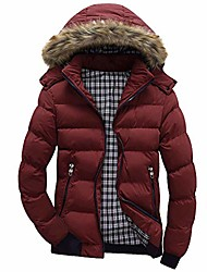 cheap -2020 fall winter fur hooded puffer coat thickened warm parka jacket
