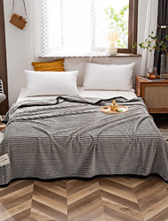 cheap -Solid Color Striped Warmer Soft Comfy Skin-friendly Blankets Bed Blankets / Sofa Throw / Multifunctional Blankets