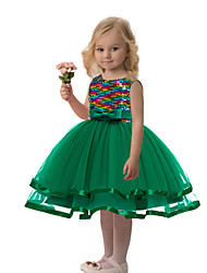 cheap -Princess Dress Party Costume Flower Girl Dress Girls' Movie Cosplay Princess Black / Red / Blue Dress Children's Day Masquerade Polyester