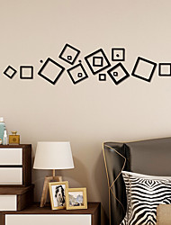 cheap -5 Colors Geometry Art Wall Sticker Mirror Wall Stickers Decorative Self Adhesive