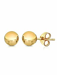cheap -premium 14k gold ball stud earrings - butterfly backings 3mm-8mm yellow white or rose (yellow, 3)