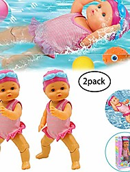cheap -electric swimming doll non-silicone inedible swimming doll art cute doll really swims battery operated swimming doll waterproof baby bath toy for home decorations birthday gifts present for kids