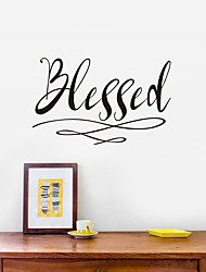 cheap -Blessed Generation Carved English Proverbs Home Furnishing Background Sticker