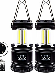 cheap -led camping lantern 2 pack, 500 lumens, survival kits for hurricane, emergency, storm, outages, outdoor portable lanterns gear, alkaline batteries (2pack gray)