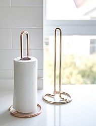 cheap -Bath Caddies, Metal Vertical Paper Roll Holder, Perforation-free Vertica Paper Towel Storage Rack, Dining Table and Kitchen Vertical Paper Towel Holder Gold Rose Gold