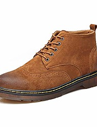 cheap -men's fashion ankle boots cursory high-top vintage and carven brogue work boots (color : light tan, size : 7.5 m us)