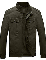 cheap -men's winter military jacket thicken fleece air force cotton coat(army green,m)