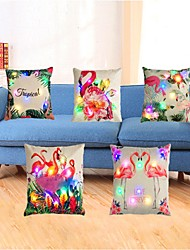cheap -5pcs Led Pillow Cushion Office Car Sofa Cushion Cover 3AA Batteries not included
