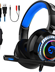 cheap -LITBest A66 Gaming Headset USB 3.5mm Headphone 3.5mm Microphone with Microphone with Volume Control Sweatproof InLine Control for Gaming PlayStation Xbox PS4 Switch