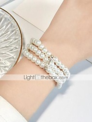 cheap -Women's Bead Bracelet Wrap Bracelet Bracelet Stacking Stackable Fashion Fashion Rhinestone Bracelet Jewelry White For Christmas Halloween Party Evening Gift Date