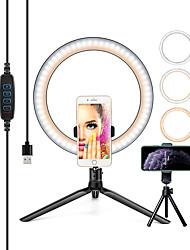 cheap -26Cm Fotografie Verlichting Telefoon Ringlicht Statief Stand Foto Led Selfie Bluetooth Remote Ring Licht Lamp Tiktok Youtube Live