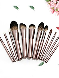 cheap -12 Pcs Small Grapes Makeup Brush Set With Bag Complete Set Of Makeup Tools For Beginners Makeup Set Brush Blush Eye Shadow Contour Concealer