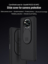 cheap -Nillkin Case For Xiaomi Poco X3 NFC Frosted Back Cover Lines / Waves / Solid Colored TPU / PC / Anti-drop/Shock/Camera Protection/Brand Packaging