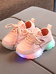 cheap -Boys' Girls' Trainers Athletic Shoes LED Shoes PU Heelys Shoes Little Kids(4-7ys) Daily Walking Shoes White Black Pink Fall Winter