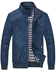cheap -mens bomber jacket windbreaker lightweight, blue, x-large