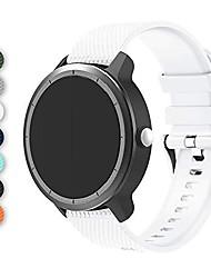 cheap -bigtang vivoactive 3 watch band, 20mm soft silicone replacementbands for garmin vivoactive 3/ garmin forerunner 645 music/samsung galaxy 42mm/galaxy watch 3 41mm smart watch - white