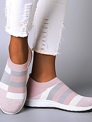 cheap -women comfy color block slip-on running sneakers - s100245-pink / us10 (42)