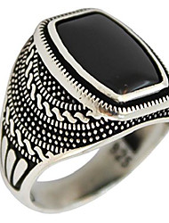 cheap -925 sterling silver jewelry onyx stone men ring (11.25)