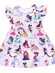 cheap -summer new stytle lovely fashionable princess sleeveless boutique girl dress children soft milksilk dress for party (3t) pink