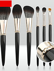 cheap -makeup brush set of 7 touch soft solid wood handle diamond-studded aluminum tube blush brush eye shadow brush