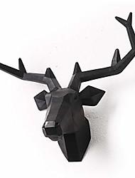 cheap -black faux taxidermy resin deer head in animal head wall decor deer head wall mount sculpture (black)