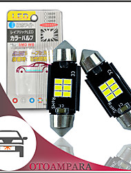 cheap -OTOLAMPARA 2pcs Car LED Number Plate Light 212-1 212-2 Bulb 6W 6000K CAN-bus LED Festoon Bulb 31MM 36MM 39MM 41MM Energy-saving Plug and Play LED Bulb C5W White Color